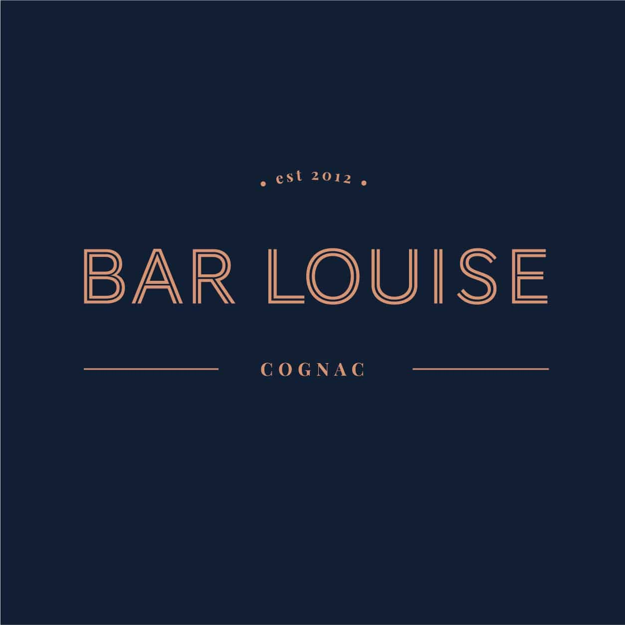 logo bar louise cognac carre